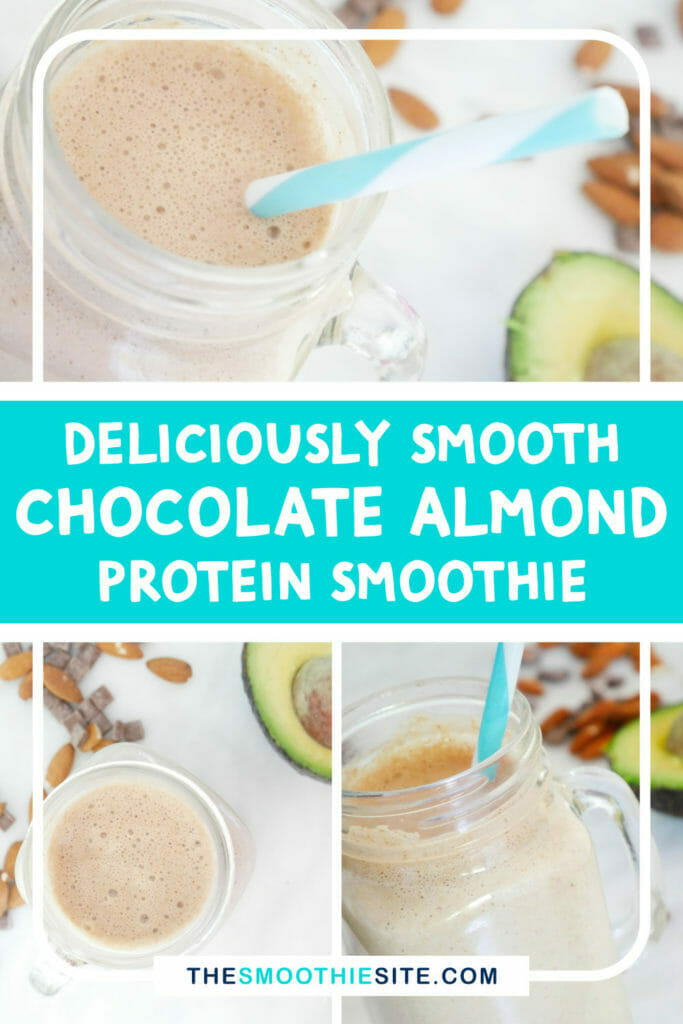 Deliciously smooth chocolate almond protein smoothie