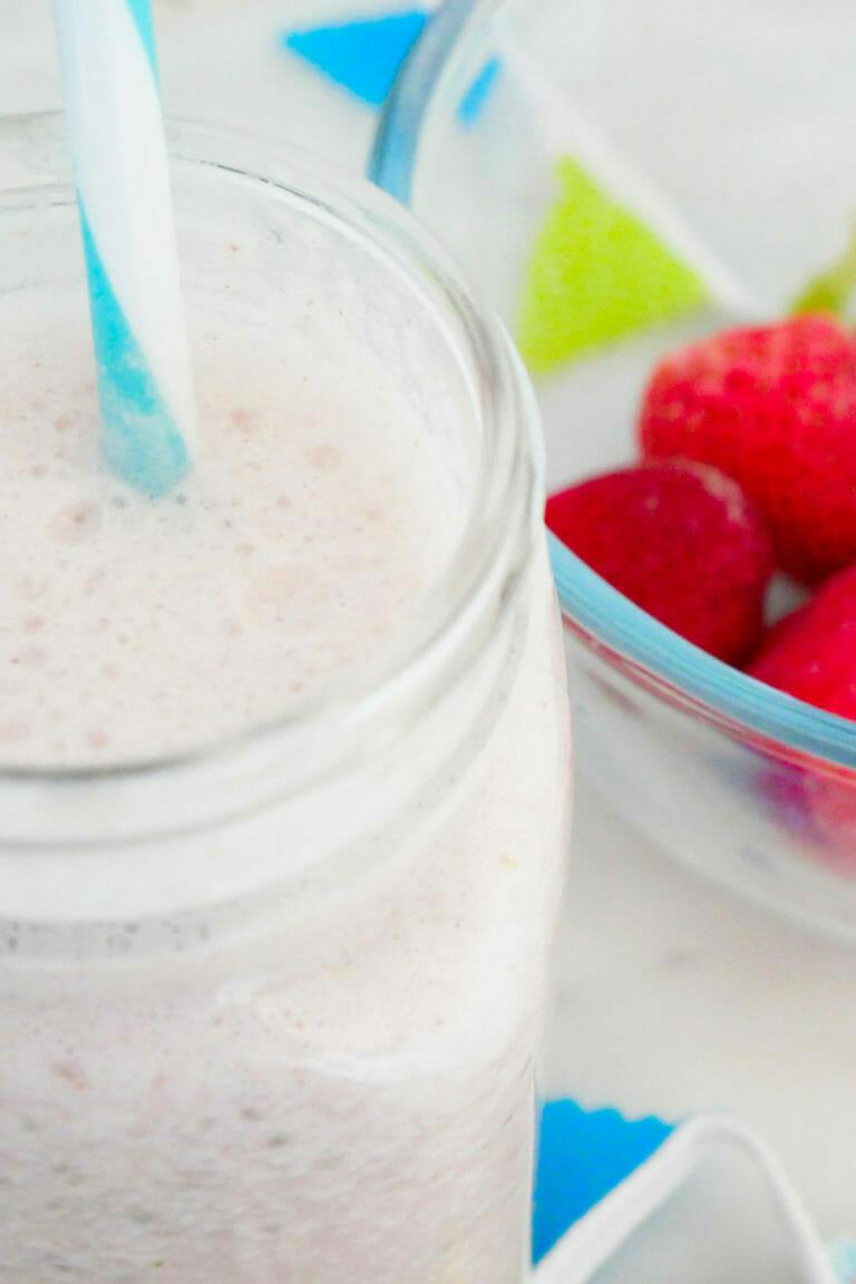 Best tasting strawberry protein shake with coconut milk weight gain smoothie
