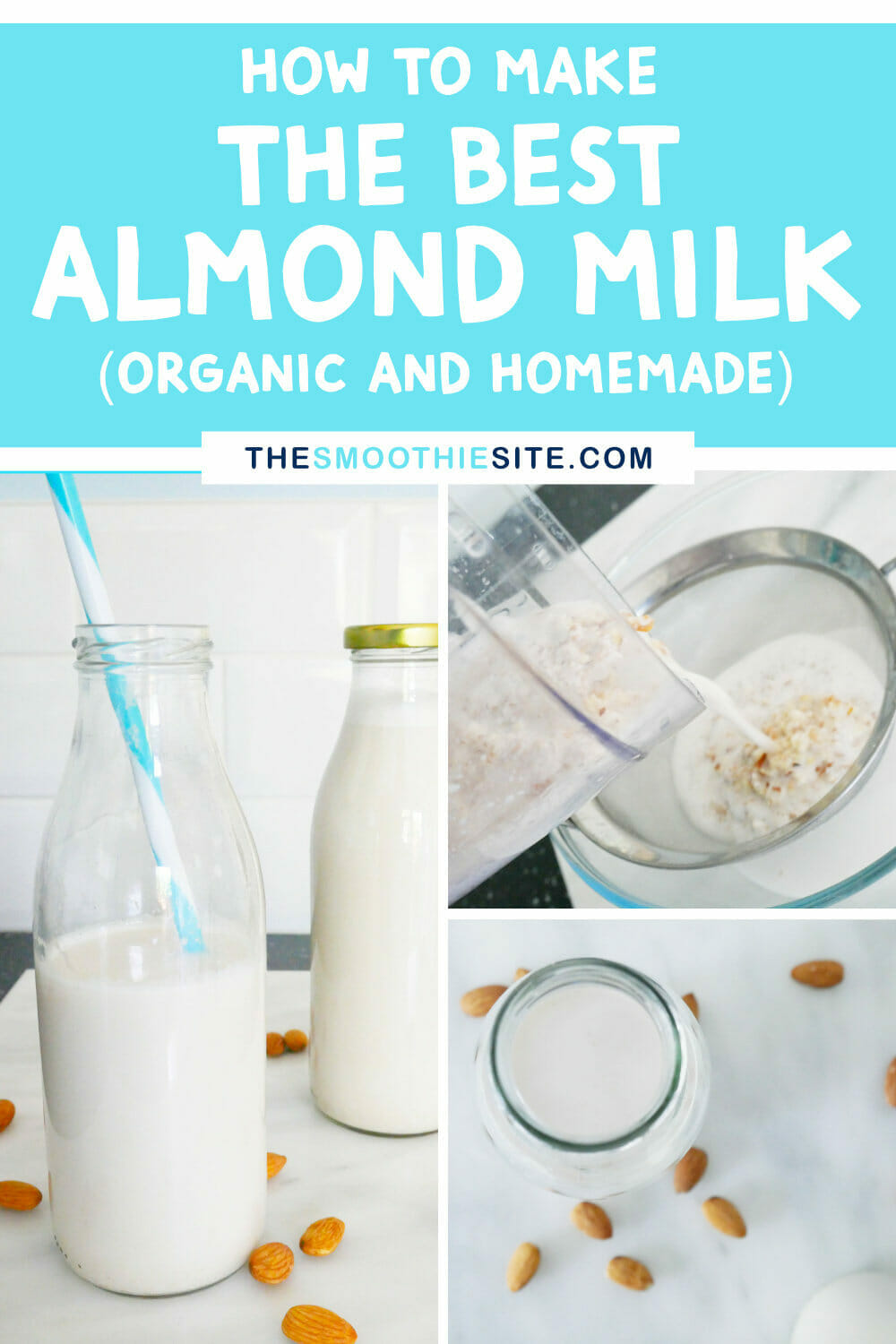 How to make almond milk (the best organic and homemade recipe) via @thesmoothiesite