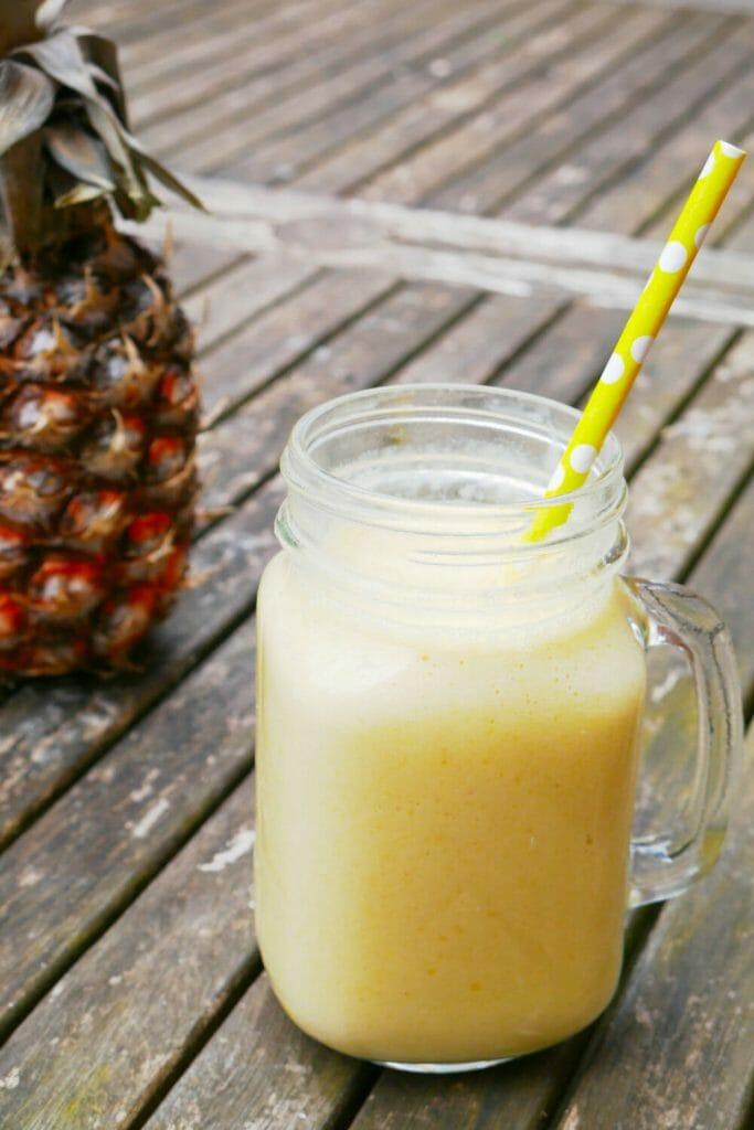 Mango pineapple coconut smoothie